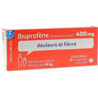Ibuprofène Biogaran 400mg 10 comprimés pelliculés