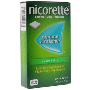 Nicorette Gomme 2mg goût Menthe sans sucre par 30
