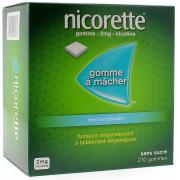 Nicorette Gomme 2mg goût Menthe Glaciale sans sucre par 210