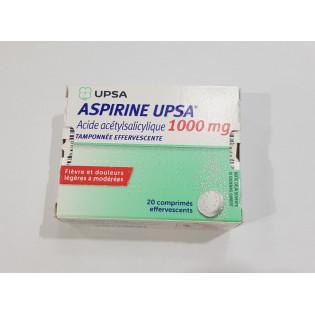 Aspirine Upsa 1000mg - 20 comprimés effervescents