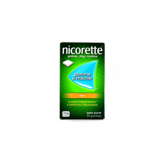 NICORETTE 2MG fruits SANS SUCRE 30 GOMMES