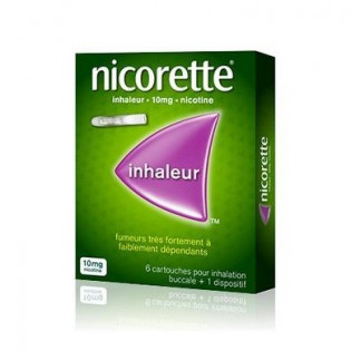 NICORETTE INHALEUR 10MG 6 CARTOUCHES + 1 DISPOSITIF