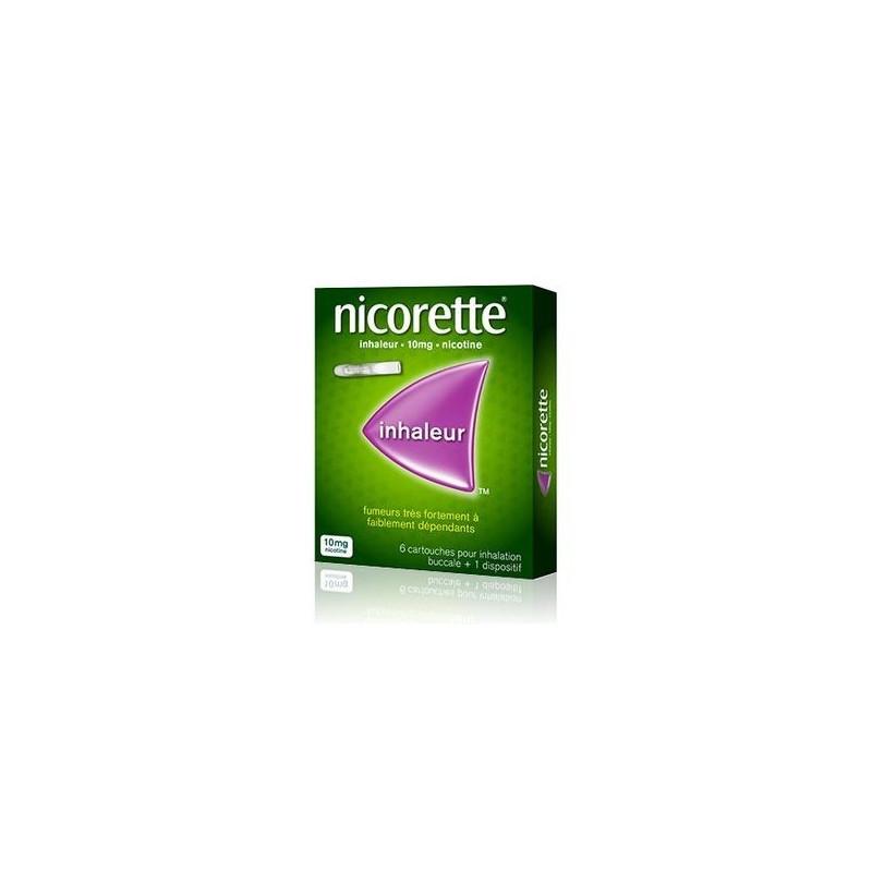 NICORETTE INHALEUR 10MG 6 CARTOUCHES + 1 DISPOSITIF