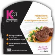 KOT PLAT Médaillons de bœuf et ses légumes en sauce 270 g