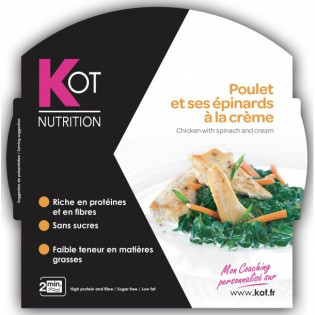 KOT PLAT Poulet et ses épinards à la crème 270 g