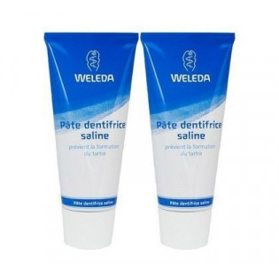 WELEDAPâte dentifrice saline. Lot de 2 Tubes 75 ml