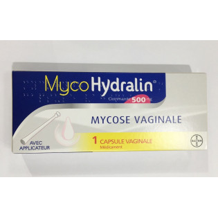 MYCOHYDRALIN 1 CAPSULE VAGINALE AVEC APPLICATEUR