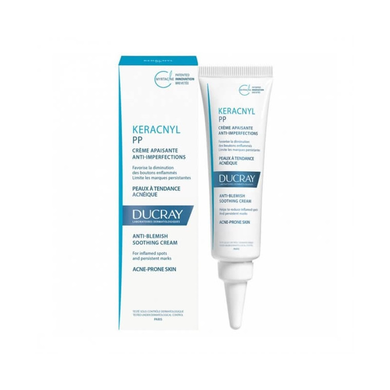 Ducray Keracnyl PP Crème Soin Apaisant anti-imperfections. Tube 30ML