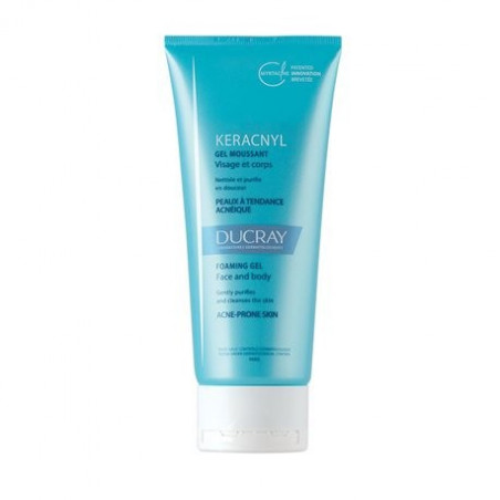 Ducray Keracnyl Gel Moussant Visage & Corps. Tube 200ml