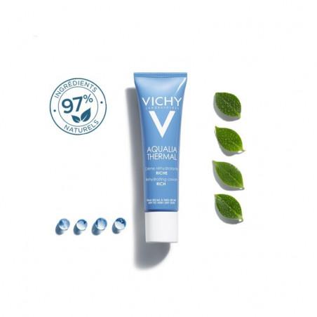 NOUVEAU Vichy AQUALIA Thermal Crème Réhydratante riche. Tube 30ml