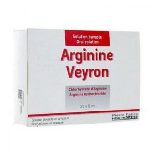 ARGININE VEYRON 20 AMPOULES DE 5ML