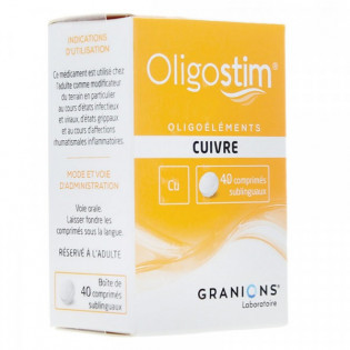 OLIGOSTIM CUIVE OR ARGENT GRANIONS 40 COMPRIMES