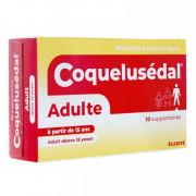 COQUELUSEDAL ADULTES A PARTIR DE 15 ANS BOITE DE 10 SUPPOSITOIRES