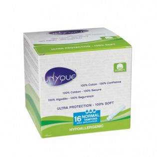 UNYQUE 16 TAMPONS MINI AVEC APPLICATEUR 100% COTON
