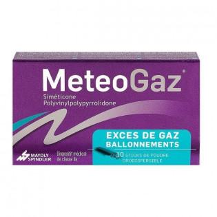 METEOGAZ 10 STICKS DE POUDRE ORODISPERSIBLE