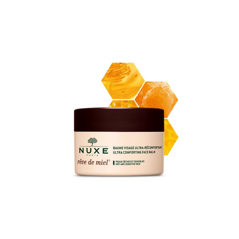 Nuxe Rêve de miel Baume visage ultra-réconfortant. Pot 50ml