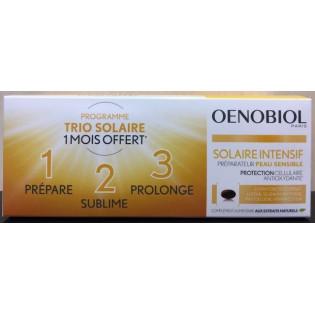 Oenobiol Solaire Intensif TRIO Peau Sensible. Lot de 3 boites de 30 capsules