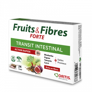 ORTIS FRUITS & FIBRES REGULAR TRANSIT INTESTINAL ACTION RAPIDE 12 cubes