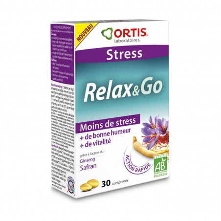 ORTIS RELAX & GO STRESS 30 COMPRIMES