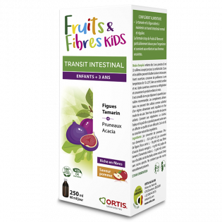 ORTIS FRUITS & FIBRES KIDS TRANSIT INTESTINAL SIROP 250ML