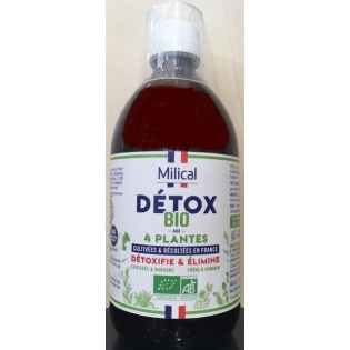 Milical Détox BIO 4 plantes flacon 500ml