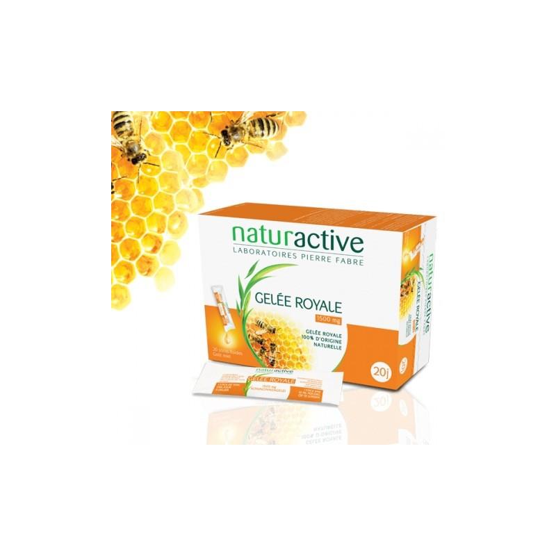 NATURACTIVE GELÉE ROYALE 1500 mg 20 sticks.