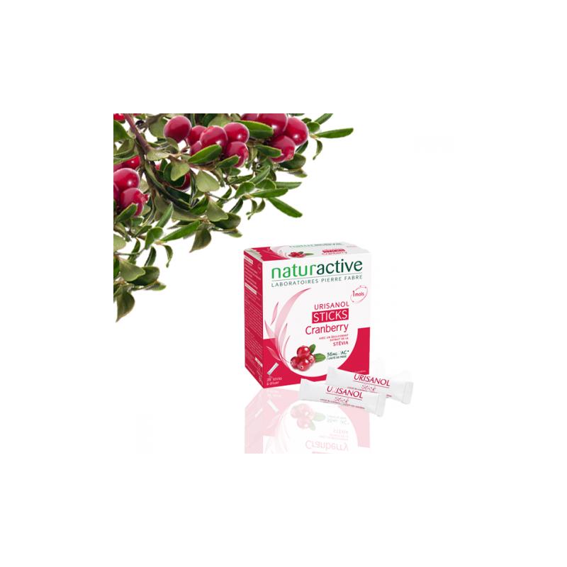 Urisanol Cranberry Elusanes 36mg boîte de 28 sticks