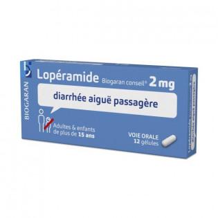 LOPERAMIDE 2MG 12 GELULES BIOGARAN CONSEIL