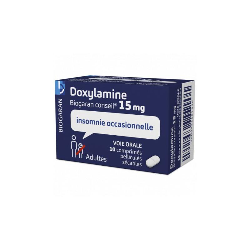 DOXYLAMINE 15MG 10 COMPRIMES PELLICULES SECABLES BIOGARAN CONSEIL