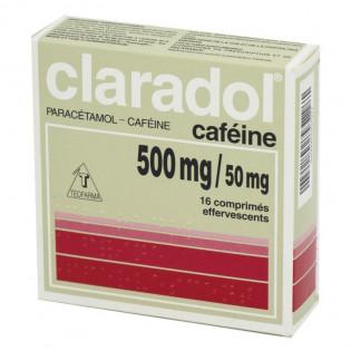 CLARADOL CAFEINE 16 COMPRIMES EFFERVESCENTS