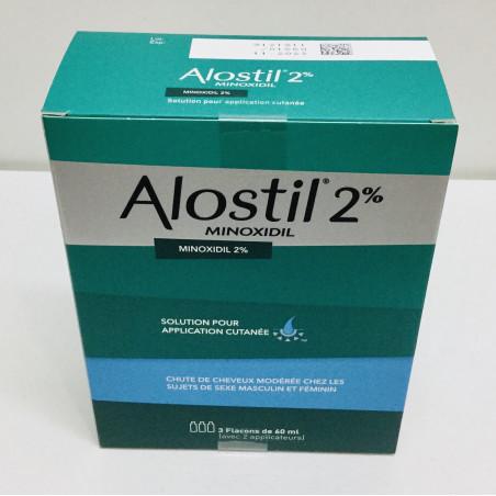 ALOSTIL 2% MINOXIDIL 3 FLACONS DE 60ML