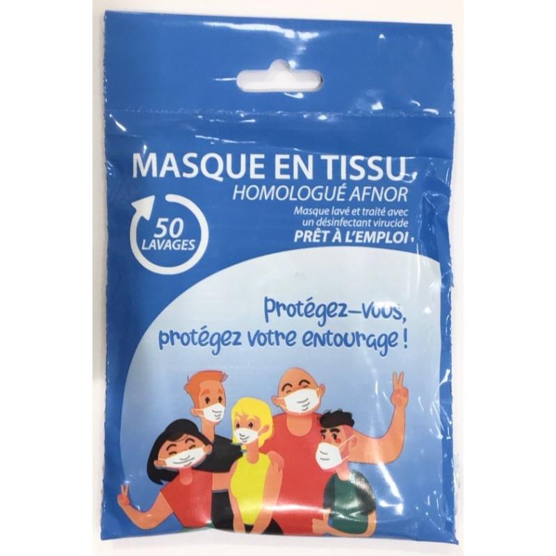 MASQUE EN TISSU UNS2 50 LAVAGES