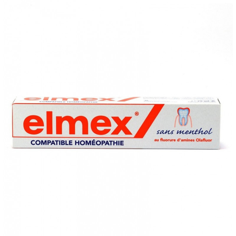 Elmex Protection Caries Dentifrice sans menthol. Tube de 75ML