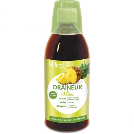 Milical Draineur Ultra goût Ananas flacon 500ml