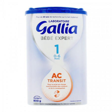 GALLIA BEBE EXPERT AC TRANSIT 1ER AGE 800G