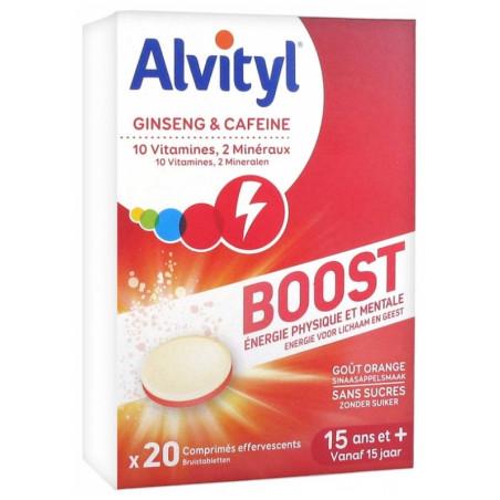 Alvityl Boost 20 comprimés effervescents goût orange sans sucres