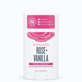 SCHMIDT'S DEODORANT ROSE + VANILLA 58ML