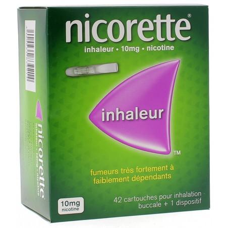NICORETTE INHALEUR 10MG 42 CARTOUCHES + 1 DISPOSITIF