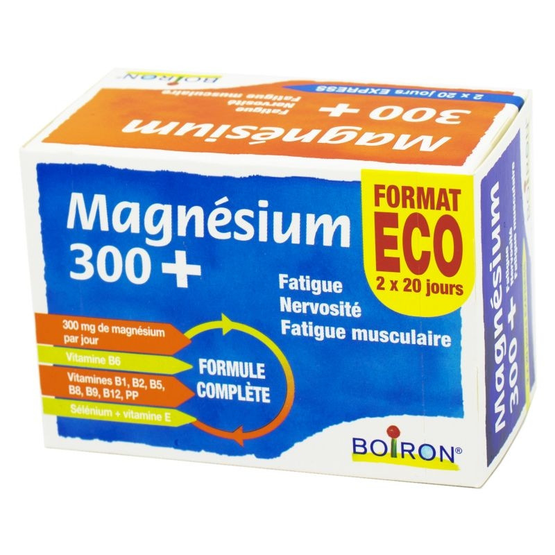 MAGNESIUM 300+ BOIRON 2X20 JOURS EXPRESS