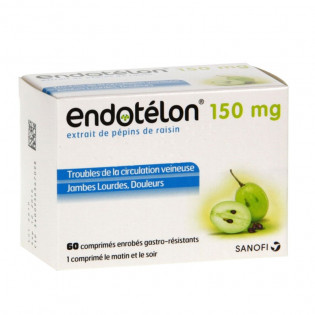 Endotelon 150mg 60 comprimés troubles de la circulation veineuse