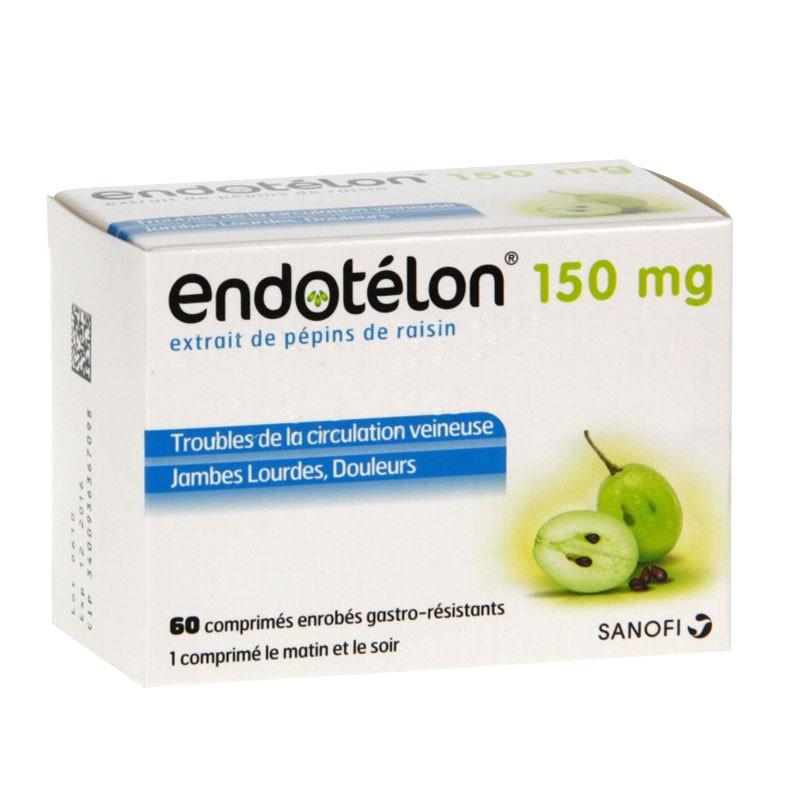 Endotelon 150mg 60 comprimés troubles de la circulation veineuse