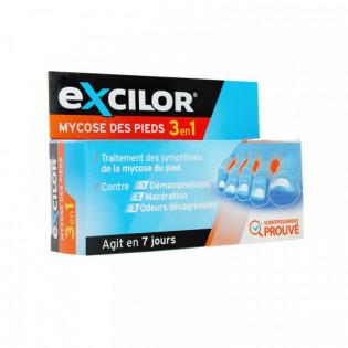 EXCILOR MYCOSE DES PIEDS 3 EN 1