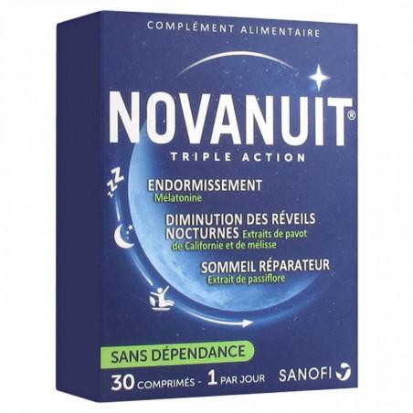 NOVANUIT SOMMEIL TRIPLE ACTION 30 COMPRIMES 1 MOIS