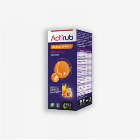 Santé Verte Actirub Solution buvable Apaise & Adoucit. Flacon 125ml
