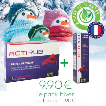 Pack hiver ACTIRUB : Comprimés & Spray nasal