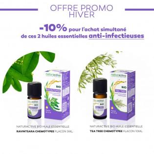 Pack Hiver Naturactive huiles essentielles : RAVINTSARA CHEMOTYPEE & TEA TREE CHEMOTYPEE