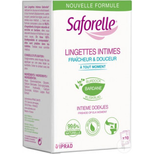 Iprad Saforelle Lingettes Intimes. x10 sachets individuels