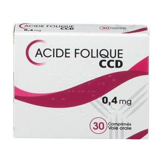 Acide Folique 0,4 mg 30 comprimés CCD