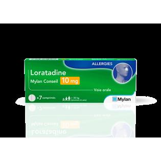 Loratadine 10 mg 7 comprimés Mylan Conseil
