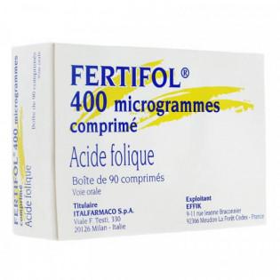 Fertifol 400 microgrammes 90 comprimés